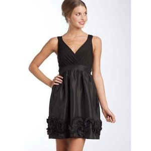 Max and Cleo Black Jersey Tafetta Dress 14 prom